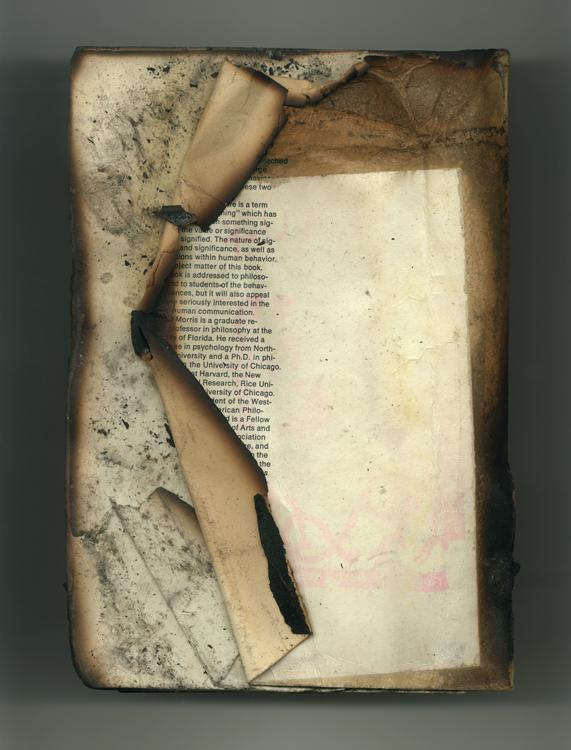 Folded Book no 145 back, 2001, Ink jet print (Giclée) on Arches paper.