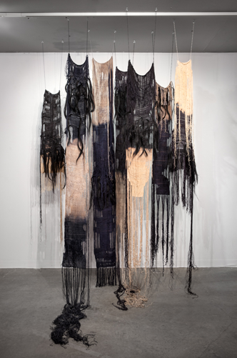 Shrouds 2014 8' x 6' x 4' Hand-dyed linen, horsehair and bleach Photo credit: Thomas Blanchard