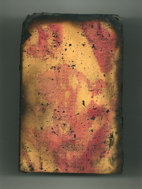 Yellow + Red Book no 147 back, 2001 Ink jet print (Giclée) on Arches paper