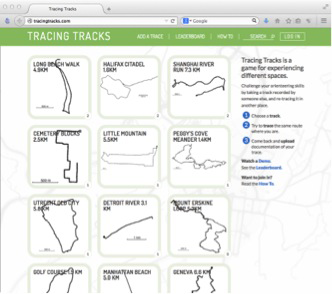 Koh, Germaine & Flückiger, Edith. Tracing Tracks, 2014, website. Image courtesy of the artist.