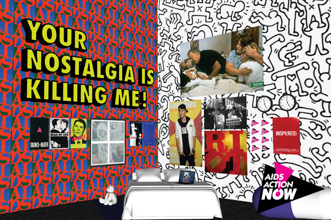 Vincent Chevalier and Ian Bradley-Perrin, Your Nostalgia is Killing Me, 2013, Digital/Google Sketchup. Image courtesy AIDS Action Now and Poster/VIRUS (Toronto).