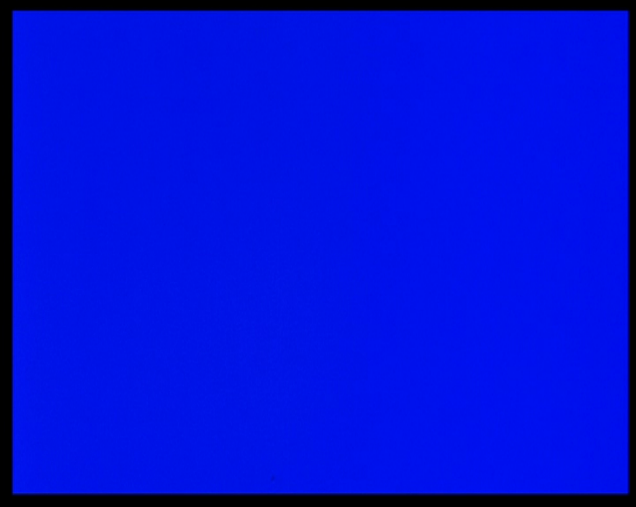 Derek Jarman, still from Blue, 1993.