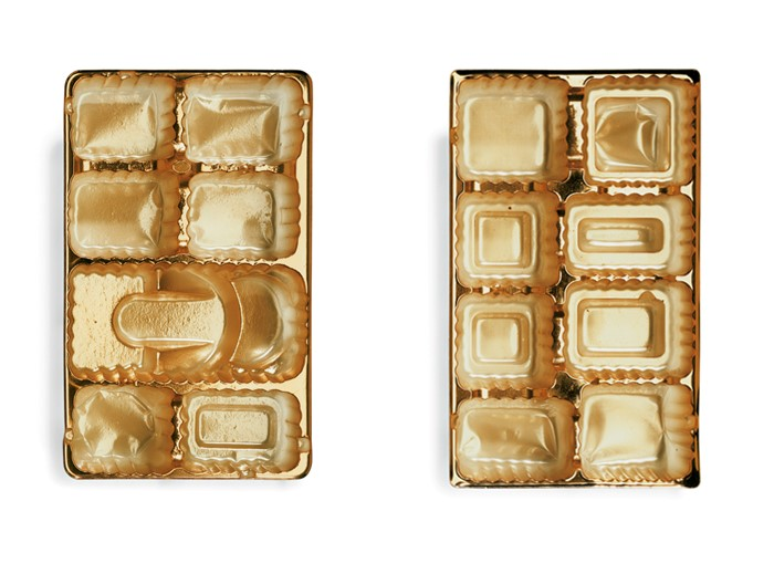 Chuck Ramirez, Candy Tray Series: Godiva 4 & 5, 2002, Photograph pigment ink print. Edition of 6 originally commissioned by Artpace San Antonio.