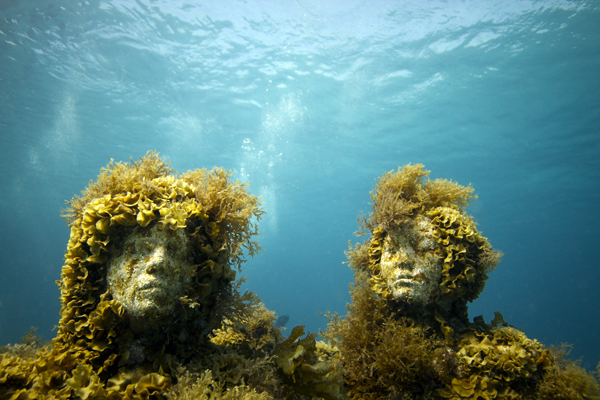 Figure 5. Jason deCaires Taylor, Silent Evolution (detail), 2010, Sculpture, dimensions variable. Cancun/Isla Mujeres, Mexico.