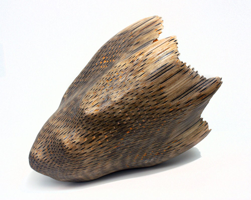 Implement 4, 2012, pencils, 18 x 11 x 11 inches. Courtesy the artist.