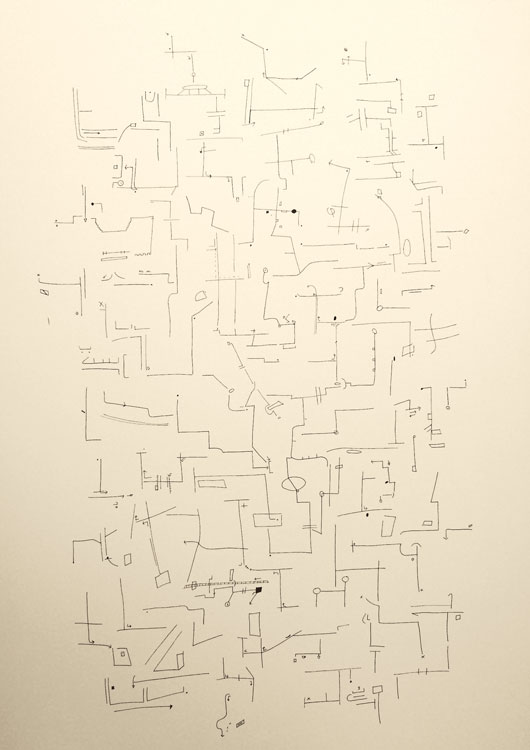 Rebecca Noone, The Directions I Collected, 2017. Pen on Paper.  Permission of the Artist.
